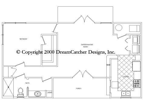 House plans by dreamcatcher designs inc custom home for Pool house plans with bathroom